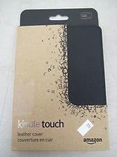 Kindle Touch Black Leather Cover Case Genuine New