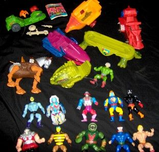 24 He Man MOTU Action Figure Vehicle Vintage 1980s Toy Lot Masters of