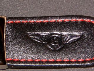 BENTLEY COLLECTION ETTINGER HAND MADE IN THE UK, BLACK/RED KEY RING