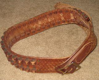 Vtg Eubanks Pioneer Leather Boise ID 1950 72 Western Cowboy 30 30 Gun