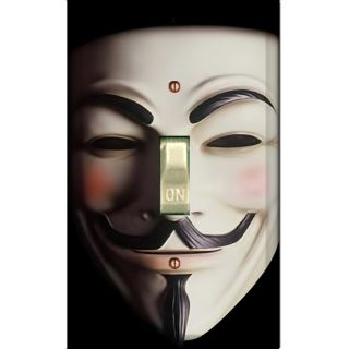 guy fawkes mask single decorated light switch cover ds 114