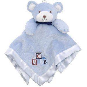 FAO Schwarz Security Blanket Snuggle Buddy Bear BLUE BRAND NEW