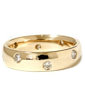 14k Yellow Gold Comfort Fit Polished Wedding Ring Eternity Band