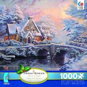 Thomas Kinkade Christmas 2012 Jigsaw Puzzle Winter at Lamplight Manor