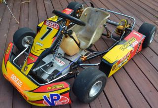 FITTIPALDI PCR RACING GO KART ROLLING CHASSIS USE FOR PRACTICE ONLY 5