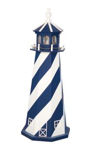 Amish Outdoor Lighthouse Nautical Wooden Lawn Garden Yard Decor 3 New