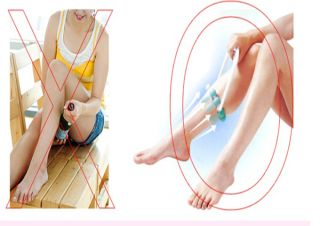 Roller Body Slimming Leg Massager Foot Calf Magic Shapely Legs Relax