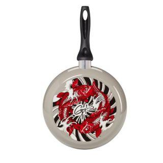 Guy Fieri 10 Decorated Skillet Fry Pan w Koi Fish