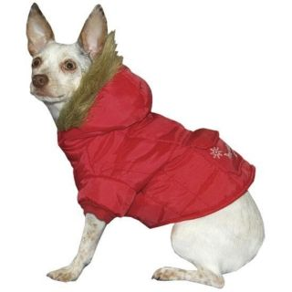 Fashion Pet Snow Angel Heated Parka Dog Jacket SM Red