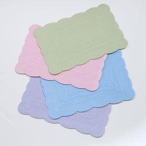 Easter Spring Vinyl Placemats Pink Blue Green Lavender