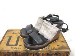 Fausto Santini Womens Unique Leather Platform Strappy Sandals Heels Sz