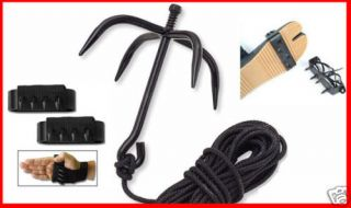 Combo Grappling Hook Hand Foot Climbing Spike Tree Wall Spikes