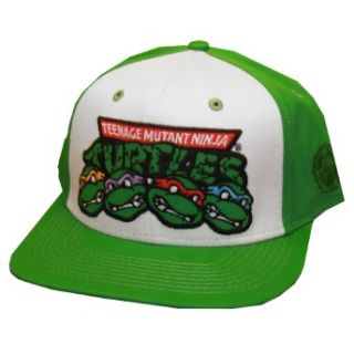 Ninja Turtles Logo Team Cartoon Snapback Flat Bill Hat Cap