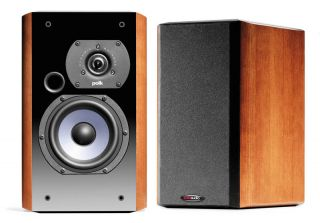 Pair LSI7 Cherry Bookshelf Loudspeakers Polk Audio 047192108671