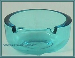 Capri Blue Executive Ashtray Ash Tray Hazel Atlas Ware