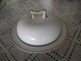 Antique Felda China Germany Covered Butter Dish