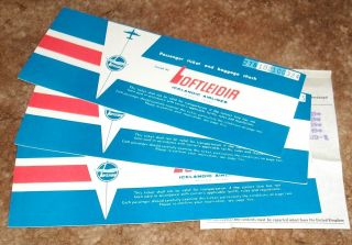 Vintage Used Icelandic Airline Tickets From 1971 NY to Luxemburg