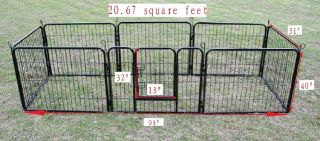 40 Heavy Duty Pet Playpen Dog Exercise Pen Cat Fence B