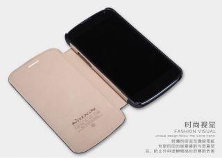 Blk Nillkin Fashion PU Flip Leather Case Pouch Fr LG E960 Google Nexus