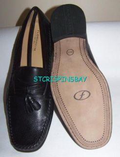 Florsheim Fitzgerald Black Loafers Shoes Mens 15 New Leather Tassle