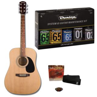 Fender Starcaster Acoustic Guitar Starter Pack w Maintenance Kit