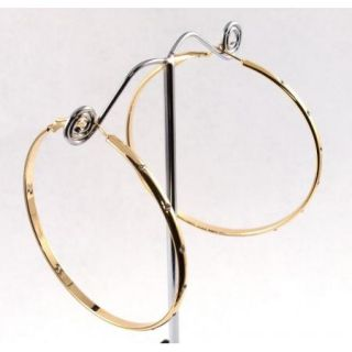 Hoop Earrings Extra Large 60mm 14k Gold Layered