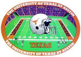 Set of 4 Team Placemats Texas Longhorns Football