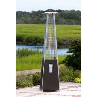 Mocha Pyramid Flame Patio Heater 40 000 BTUs 10 Diameter Heat Range