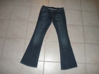 Seven 7 Womens Flare Jeans Size 4 Regular 30 x 32 Low Rise 4R Stretch