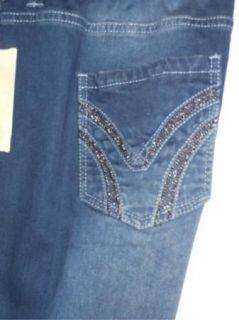 Reba Reba McEntire Chain Trim Pocket Stretch Jeans 22W