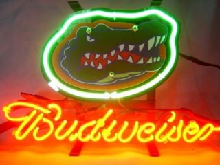 Florida Gaors Budweiser Beer Neon Ligh Sign IF036