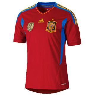 Spain Home Soccer Jersey with FIFA World Champions 2010 Patch
