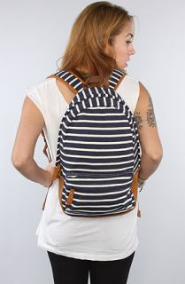 Accessories Boutique The Striped Backpack in Navy