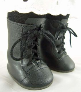 Doll Clothes Fits American Girl Addy Black 1800s Era Style Boots Flat