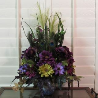 AUTUMN,SILK,FLOWER,ARRANGEMENT,FLORAL, CENTERPIECE,FLUME STEM