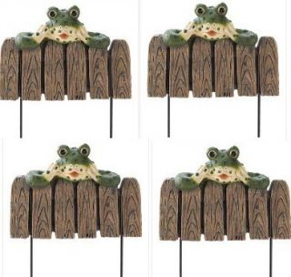 Frog Landscape Border Edging Flower Bed Fence Garden Landscaping