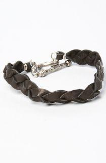 Ettika The Black Bradied Deerskin Leather Bracelet