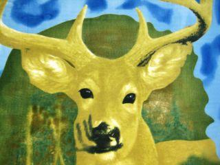 10 Pointer Deer Fleece Throw Blanket 60` x 50` Buck