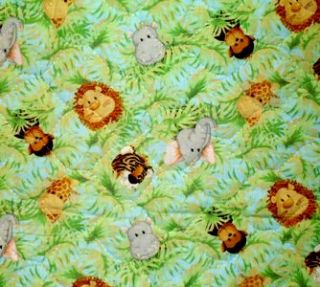 Patty Reed Jungle Babies Childrens Quilted Panel Cute