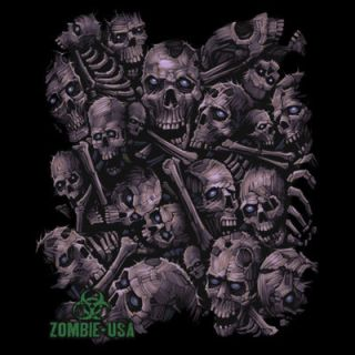 725O Zombie Skull Stack Heat Transfer T Shirt Fabric Sweatshirt Iron