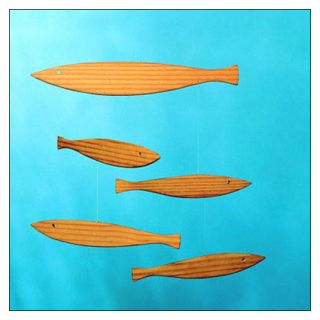 Mobile with Wood Fish by Christian Flensted Flensted Mobiles