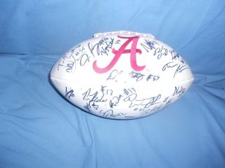 2012 ALABAMA CRIMSON TIDE Team Signed Logo Football Lacy Fluker