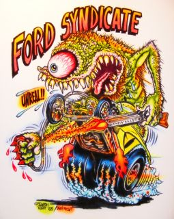 Johnny Ace Art Airbrushed T Shirt Rat Fink Ed Big Daddy Roth Ford