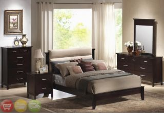 PC Upholsered Queen Bedroom Furniure Se Modern New