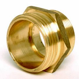 Fire Hose Hydrant Hex Adapter 1 1 2 Male NPT x 1 1 2 Male NST