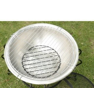 Mini Fire Pit Stainless Steel Stove BBQ Grill Fireplace Round