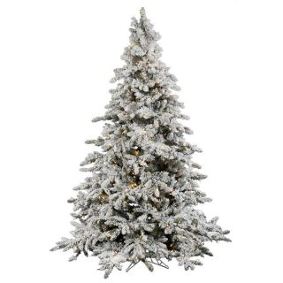 65 Flocked Utica Fir Artificial Christmas Tree Pre Lit