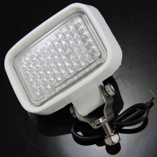 LED Flood Light Work Lamp White Rubber Marine Boat Truck 12V 24V 4x4