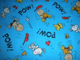 Snoopy Charlie Brown gang baseball Peanuts 2000 cotton fabric