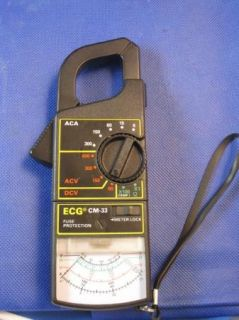 ECG cm 33 Clamp on Amp Meter Calibration